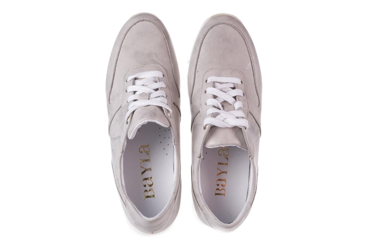 Sneakersy bayla-185 185 105 srebrny, skóra naturalna  - bayla - nasze marki 12