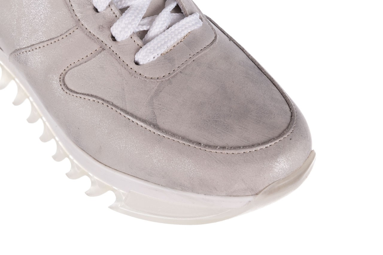 Sneakersy bayla-185 185 105 srebrny, skóra naturalna  - bayla - nasze marki 13