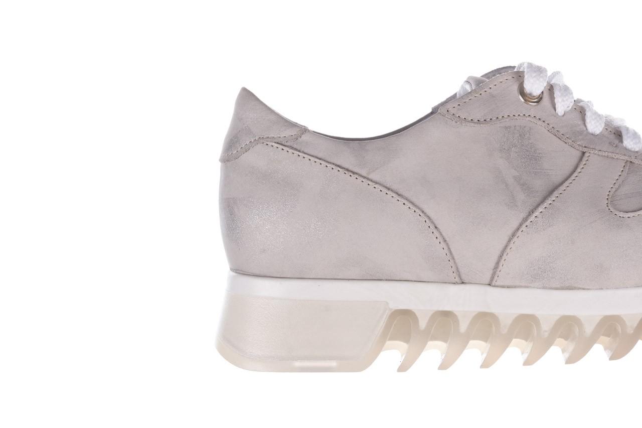 Sneakersy bayla-185 185 105 srebrny, skóra naturalna  - sneakersy - buty damskie - kobieta 14