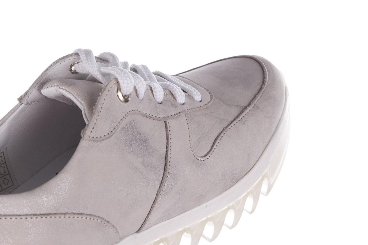 Sneakersy bayla-185 185 105 srebrny, skóra naturalna  - sneakersy - buty damskie - kobieta 15