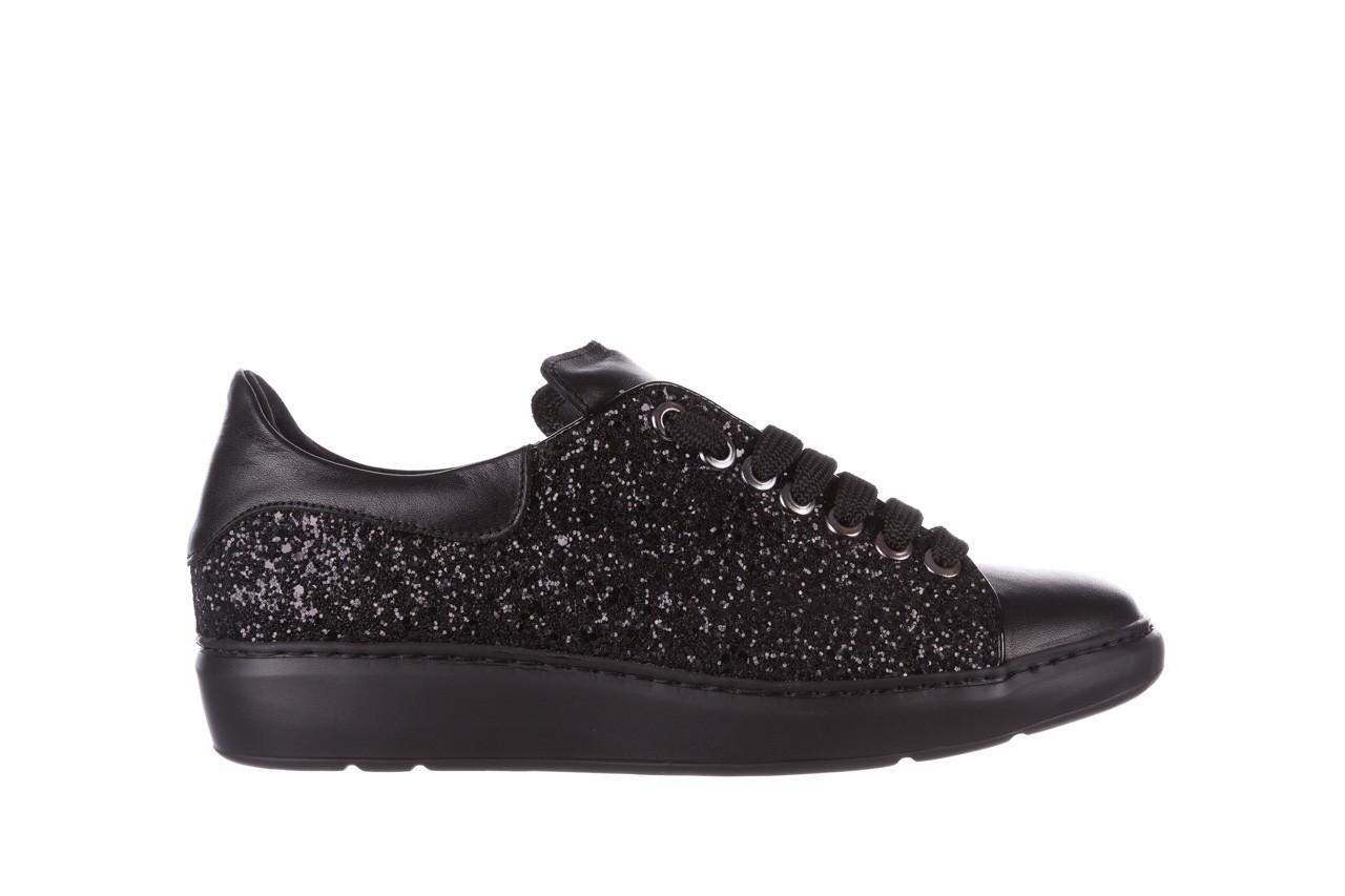 Trampki bayla-185 185 104 glitter czarny, skóra naturalna  - skórzane - trampki - buty damskie - kobieta 7