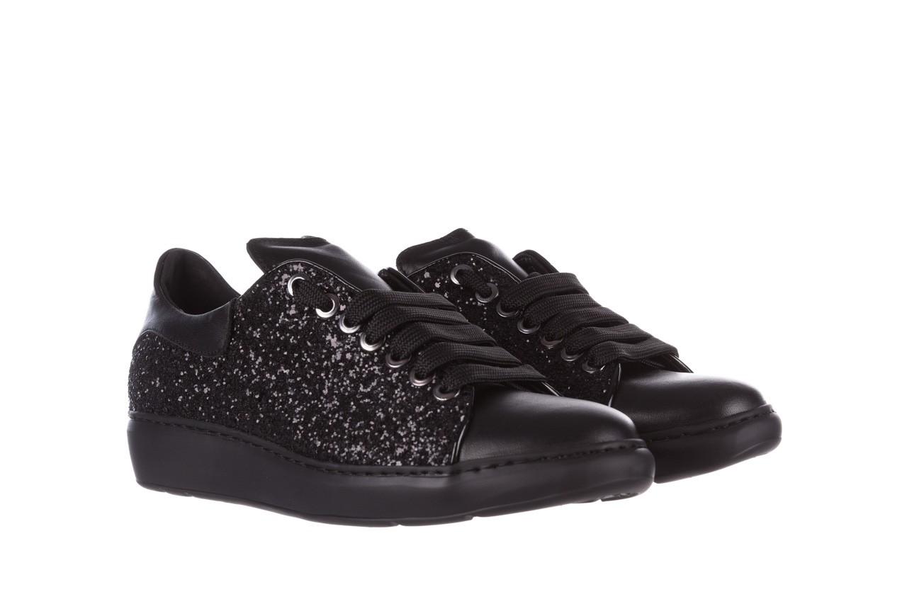 Trampki bayla-185 185 104 glitter czarny, skóra naturalna  - skórzane - trampki - buty damskie - kobieta 8