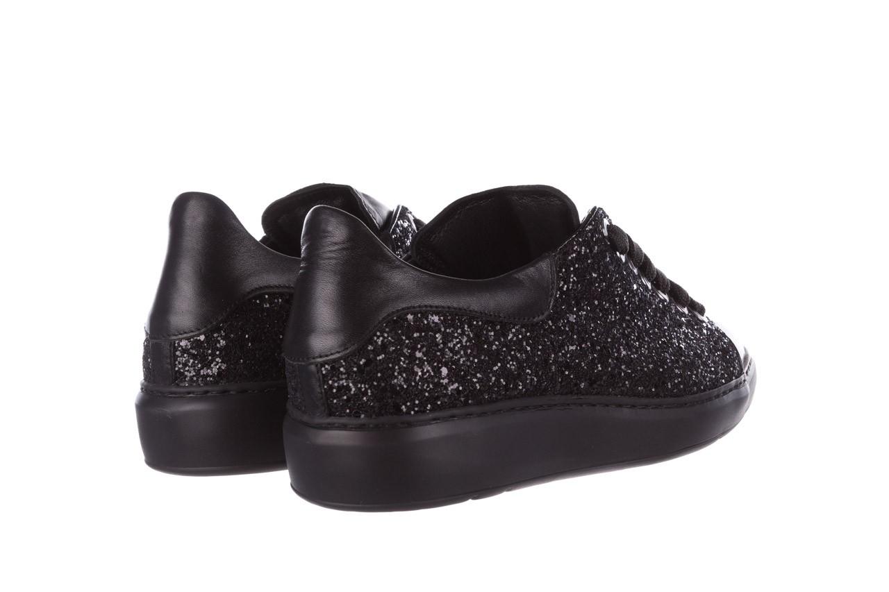 Trampki bayla-185 185 104 glitter czarny, skóra naturalna  - skórzane - trampki - buty damskie - kobieta 10