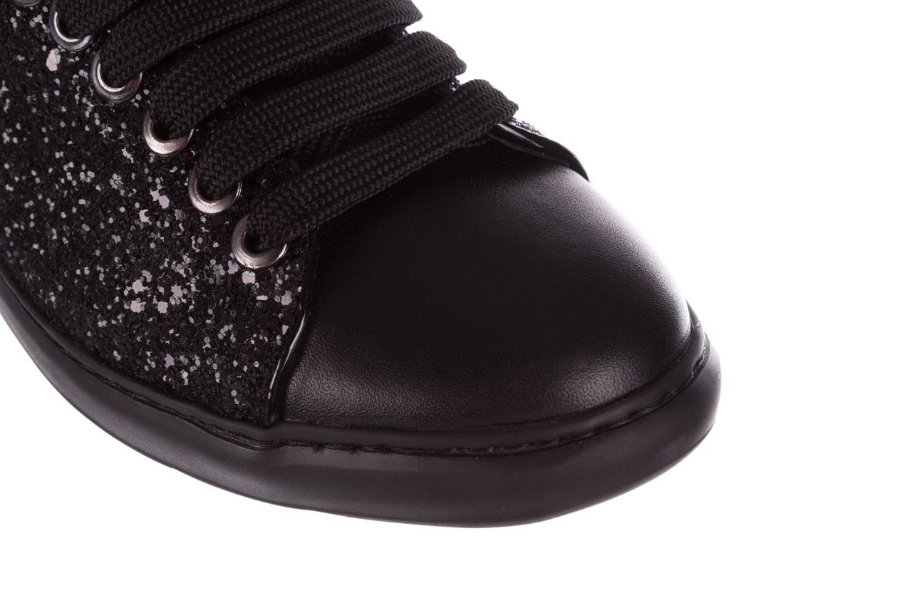 Trampki bayla-185 185 104 glitter czarny, skóra naturalna  - skórzane - trampki - buty damskie - kobieta 12