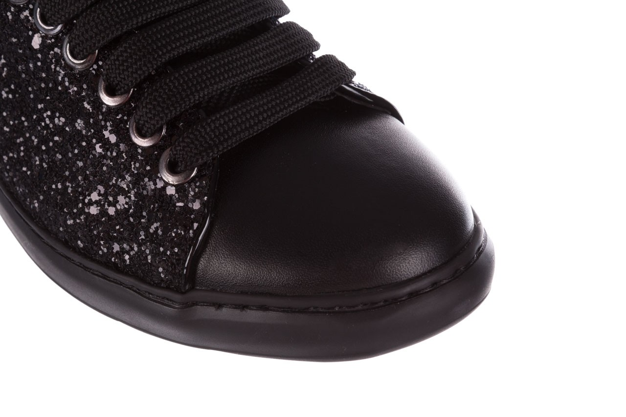 Trampki bayla-185 185 104 glitter czarny, skóra naturalna 12