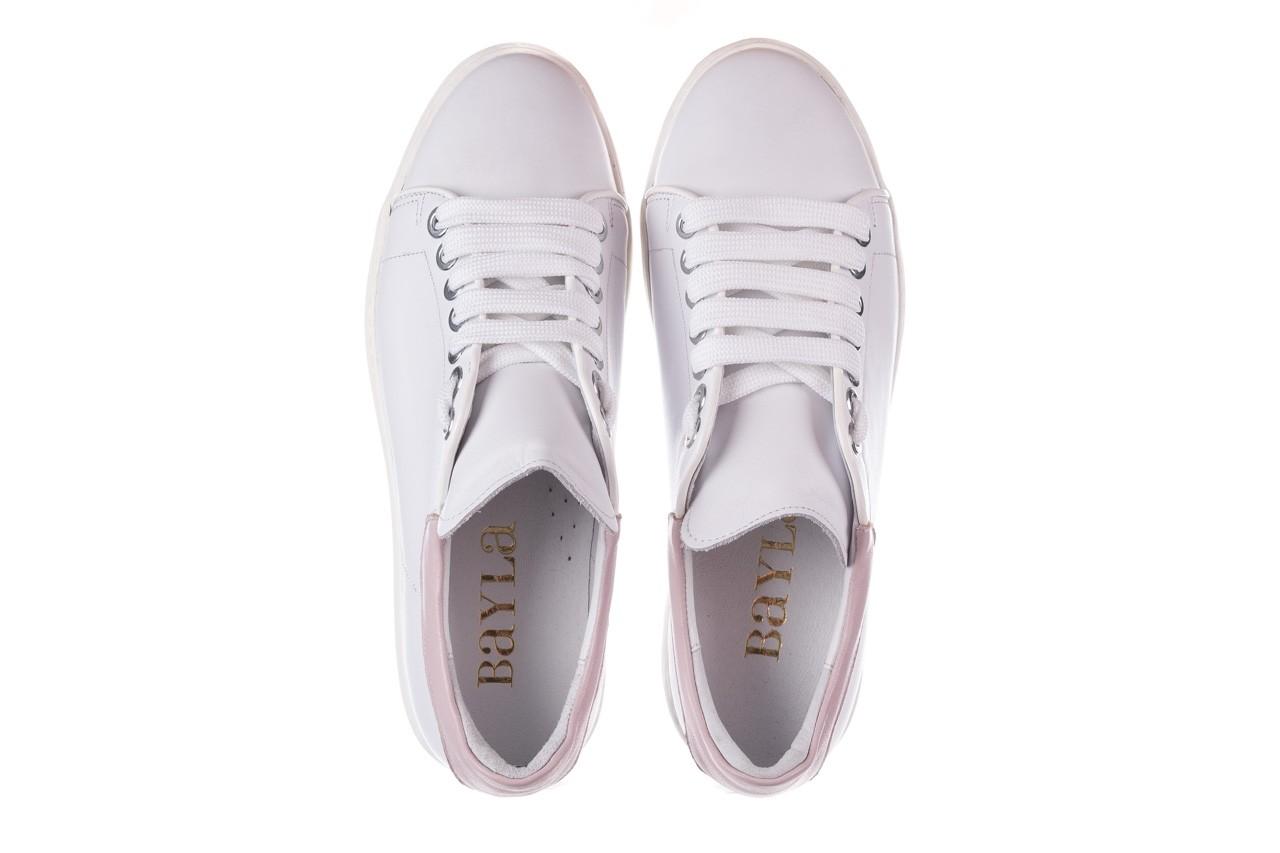 Trampki bayla-185 185 101 biały, skóra naturalna  - niskie - trampki - buty damskie - kobieta 11
