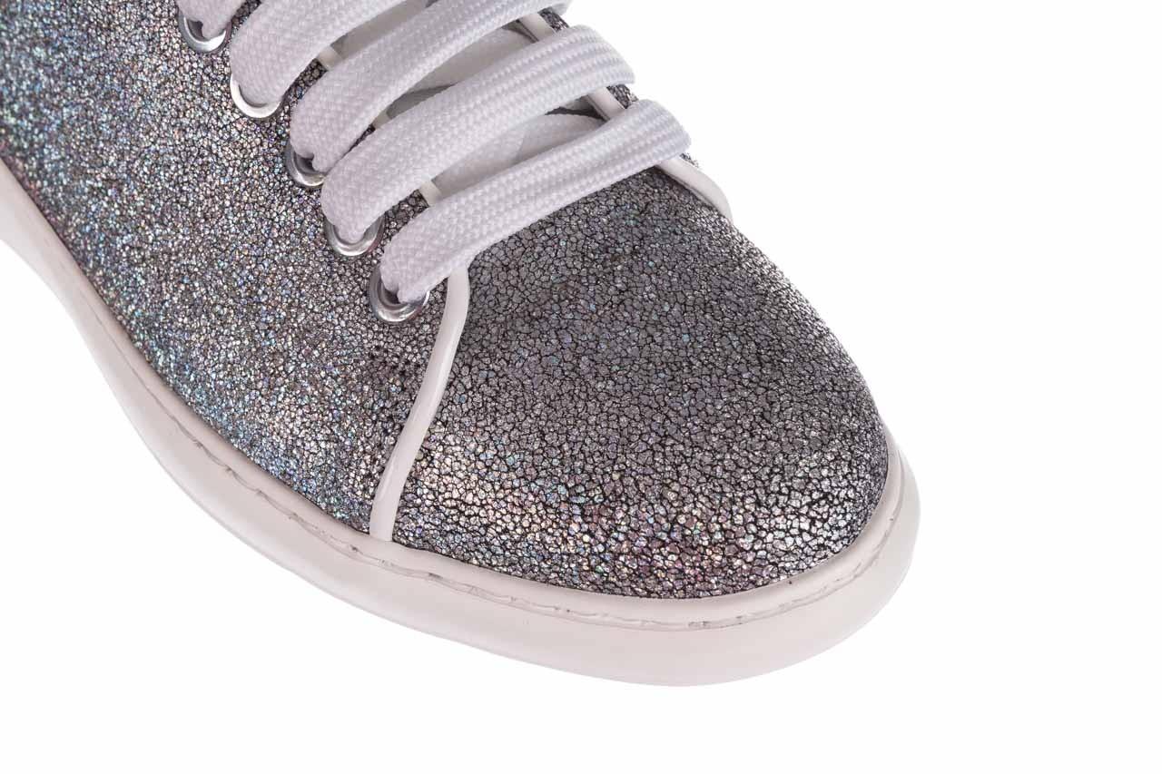 Trampki bayla-185 185 102 srebrny, skóra naturalna  - skórzane - trampki - buty damskie - kobieta 12