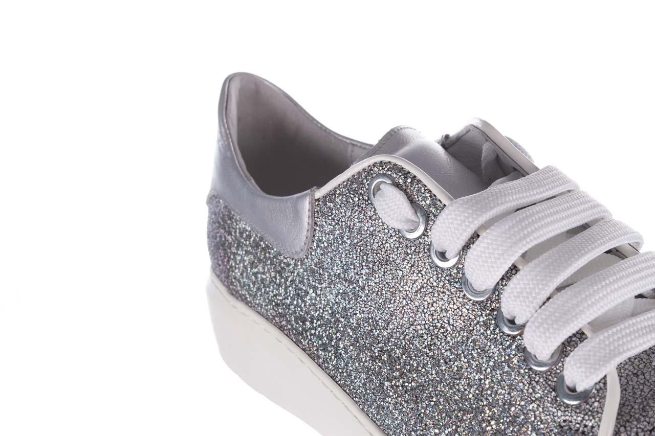 Trampki bayla-185 185 102 srebrny, skóra naturalna  - skórzane - trampki - buty damskie - kobieta 13