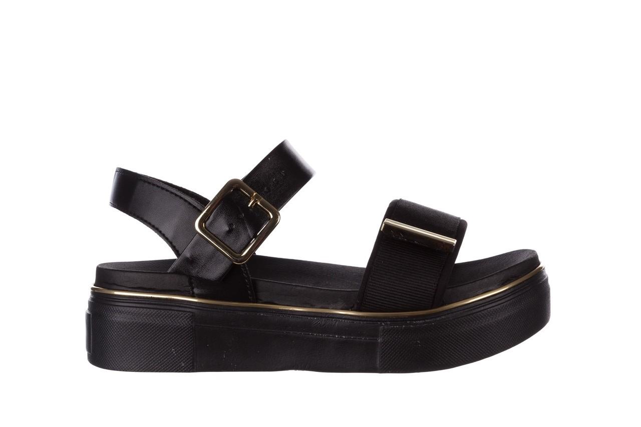 Sandały azaleia 400 290 napa snow black-black, czarny, skóra ekologiczna/ materiał  - na platformie - sandały - buty damskie - kobieta 9