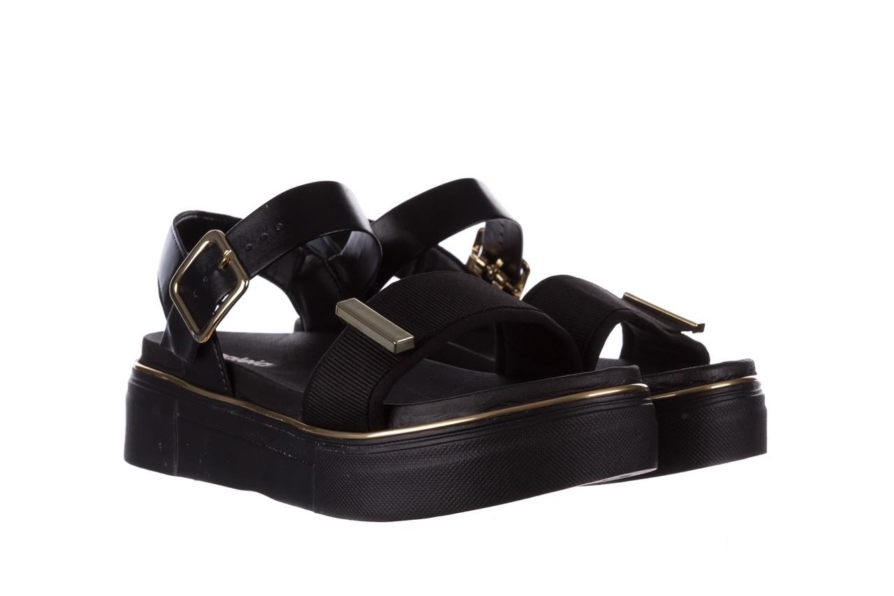 Sandały azaleia 400 290 napa snow black-black, czarny, skóra ekologiczna/ materiał  - na platformie - sandały - buty damskie - kobieta 10