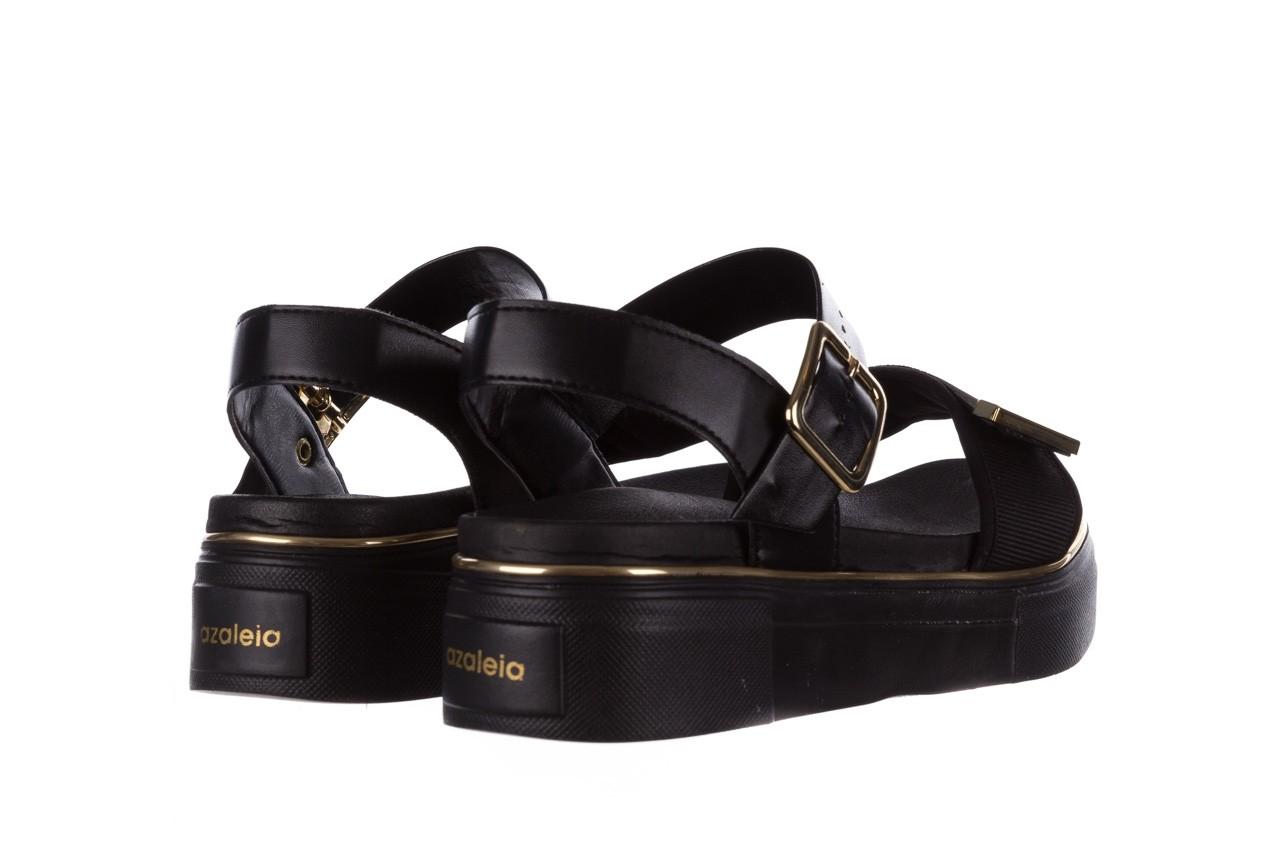 Sandały azaleia 400 290 napa snow black-black, czarny, skóra ekologiczna/ materiał  - na platformie - sandały - buty damskie - kobieta 12