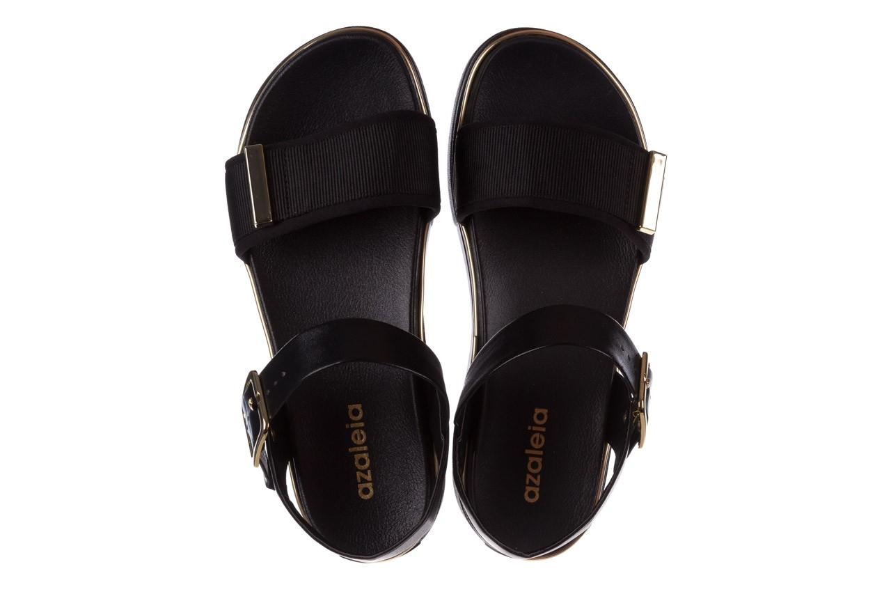 Sandały azaleia 400 290 napa snow black-black, czarny, skóra ekologiczna/ materiał  - na platformie - sandały - buty damskie - kobieta 13