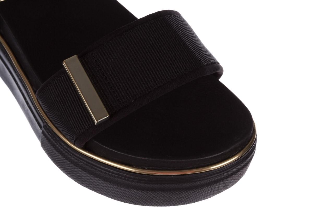Sandały azaleia 400 290 napa snow black-black, czarny, skóra ekologiczna/ materiał  - na platformie - sandały - buty damskie - kobieta 14