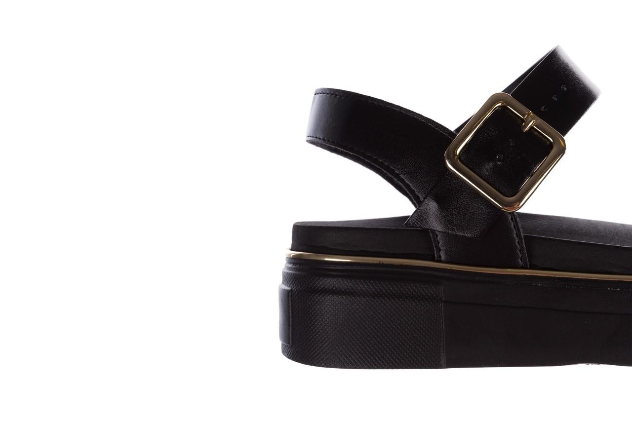 Sandały azaleia 400 290 napa snow black-black, czarny, skóra ekologiczna/ materiał  - na platformie - sandały - buty damskie - kobieta 15