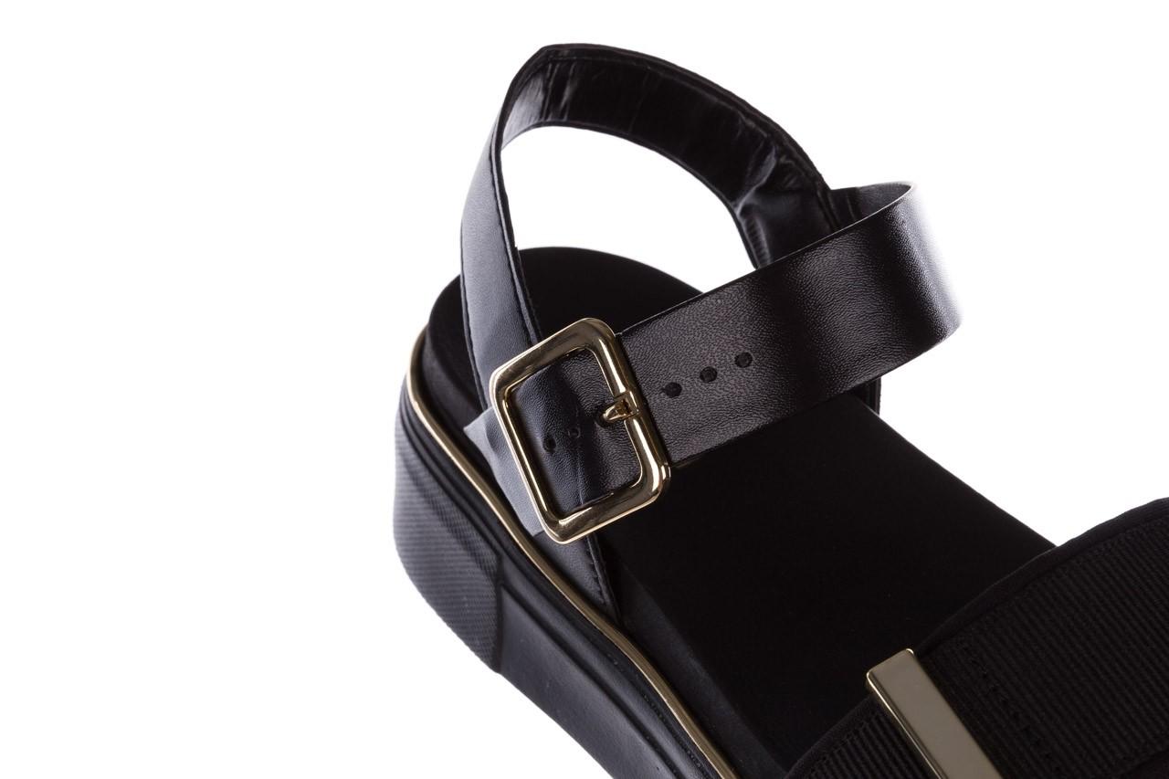 Sandały azaleia 400 290 napa snow black-black, czarny, skóra ekologiczna/ materiał  - na platformie - sandały - buty damskie - kobieta 16