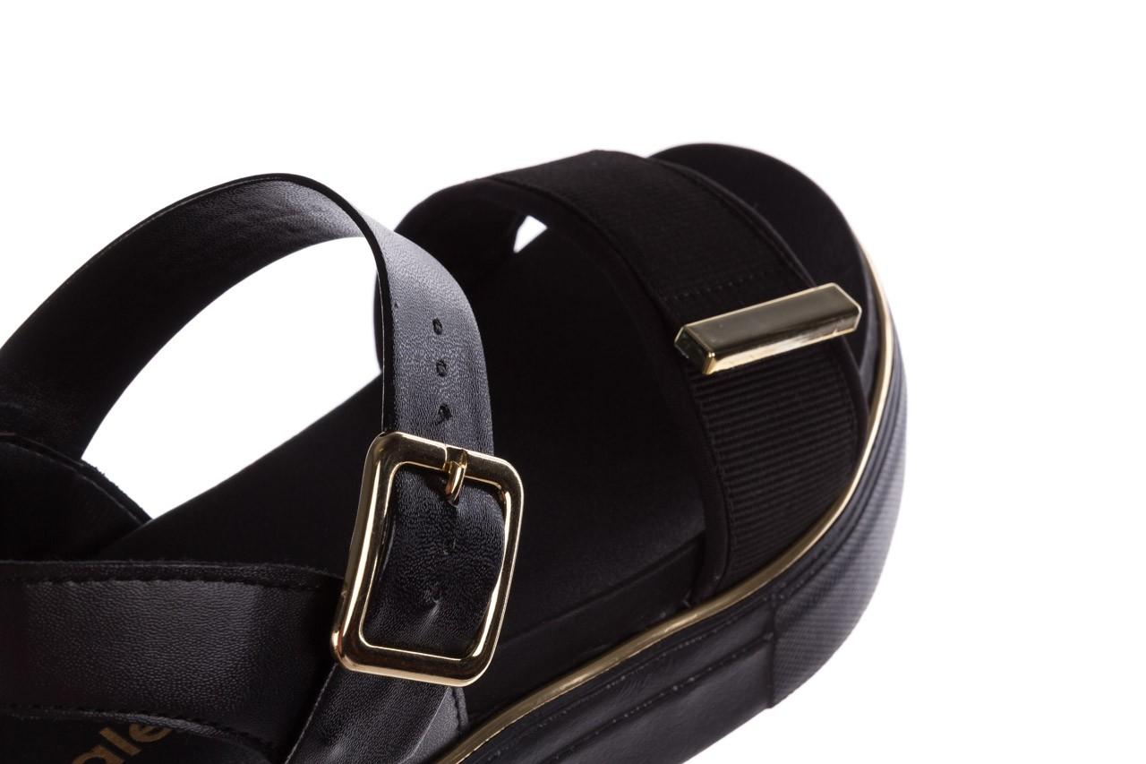 Sandały azaleia 400 290 napa snow black-black, czarny, skóra ekologiczna/ materiał  - na platformie - sandały - buty damskie - kobieta 17