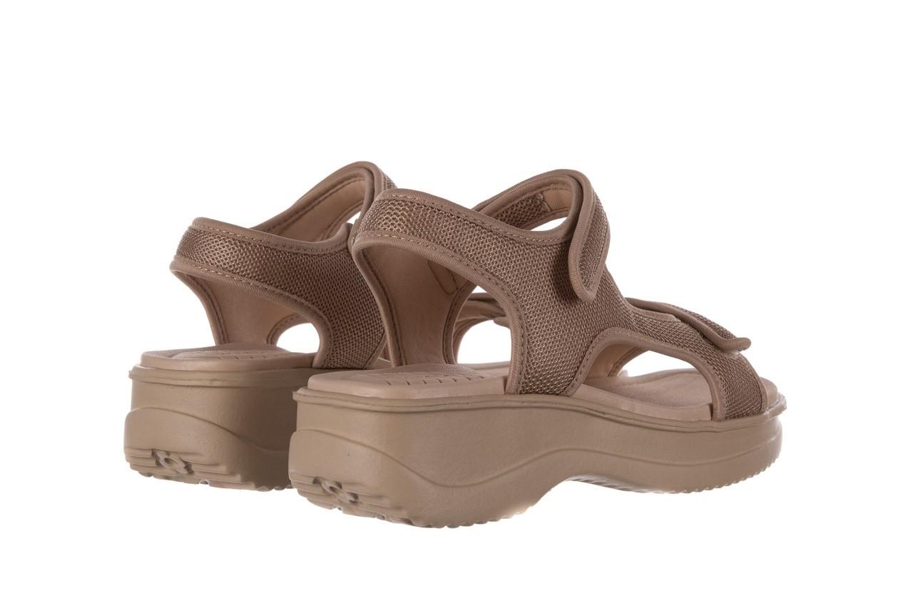 Sandały azaleia 320 323 beige sand 20, beż, materiał - sandały - buty damskie - kobieta 10