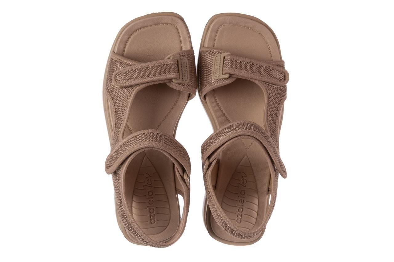 Sandały azaleia 320 323 beige sand 20, beż, materiał - sandały - buty damskie - kobieta 11