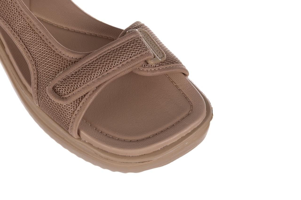 Sandały azaleia 320 323 beige sand 20, beż, materiał - sandały - buty damskie - kobieta 12
