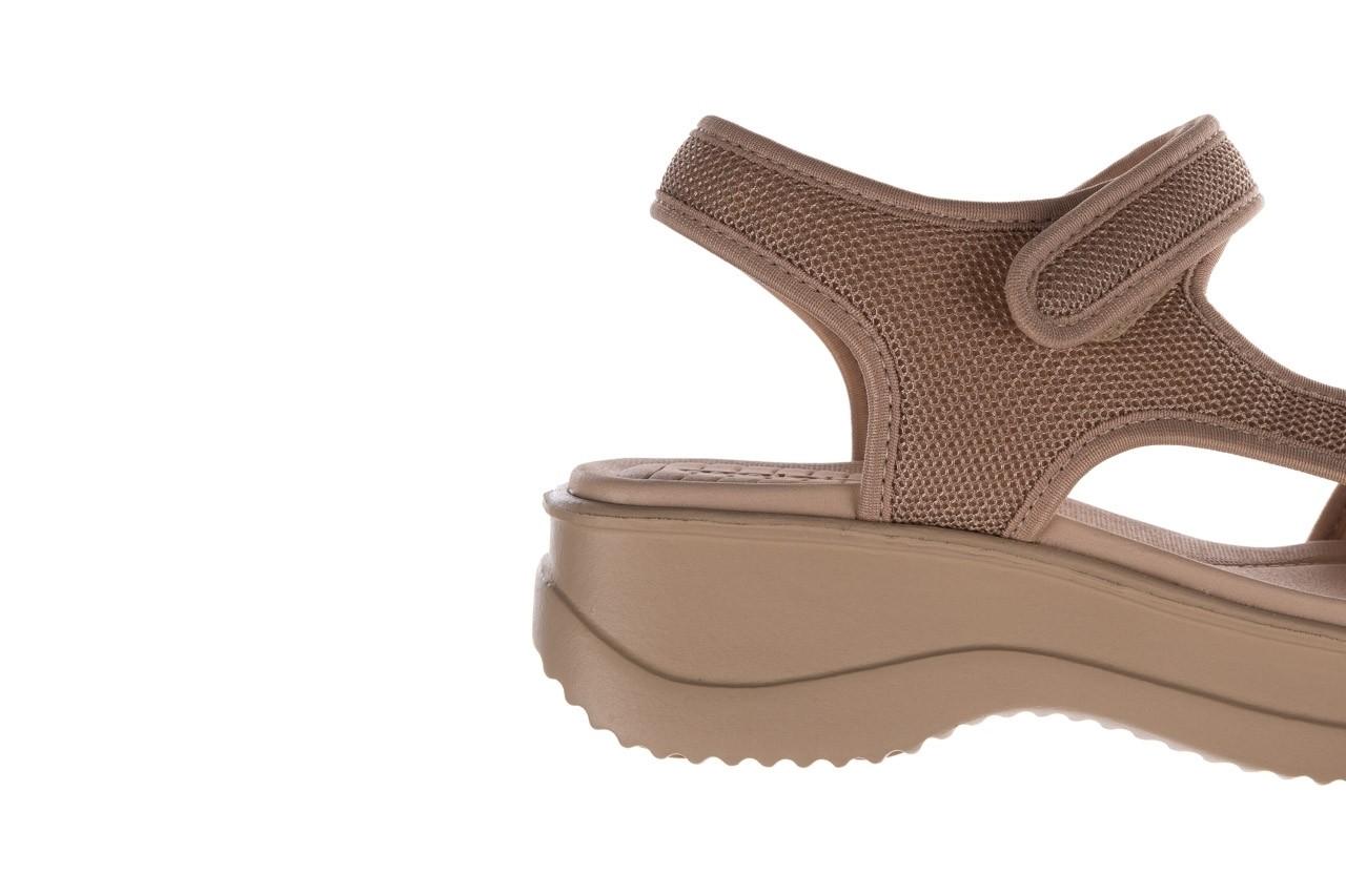 Sandały azaleia 320 323 beige sand 20, beż, materiał - sandały - buty damskie - kobieta 13