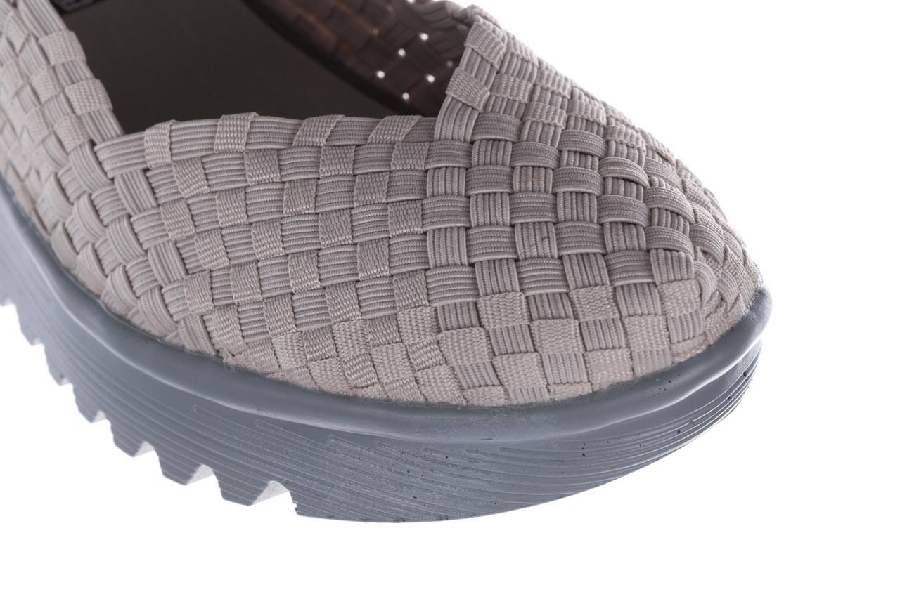 Półbuty rock brasil lt grey-leather counter, szary, materiał - rock - nasze marki 12