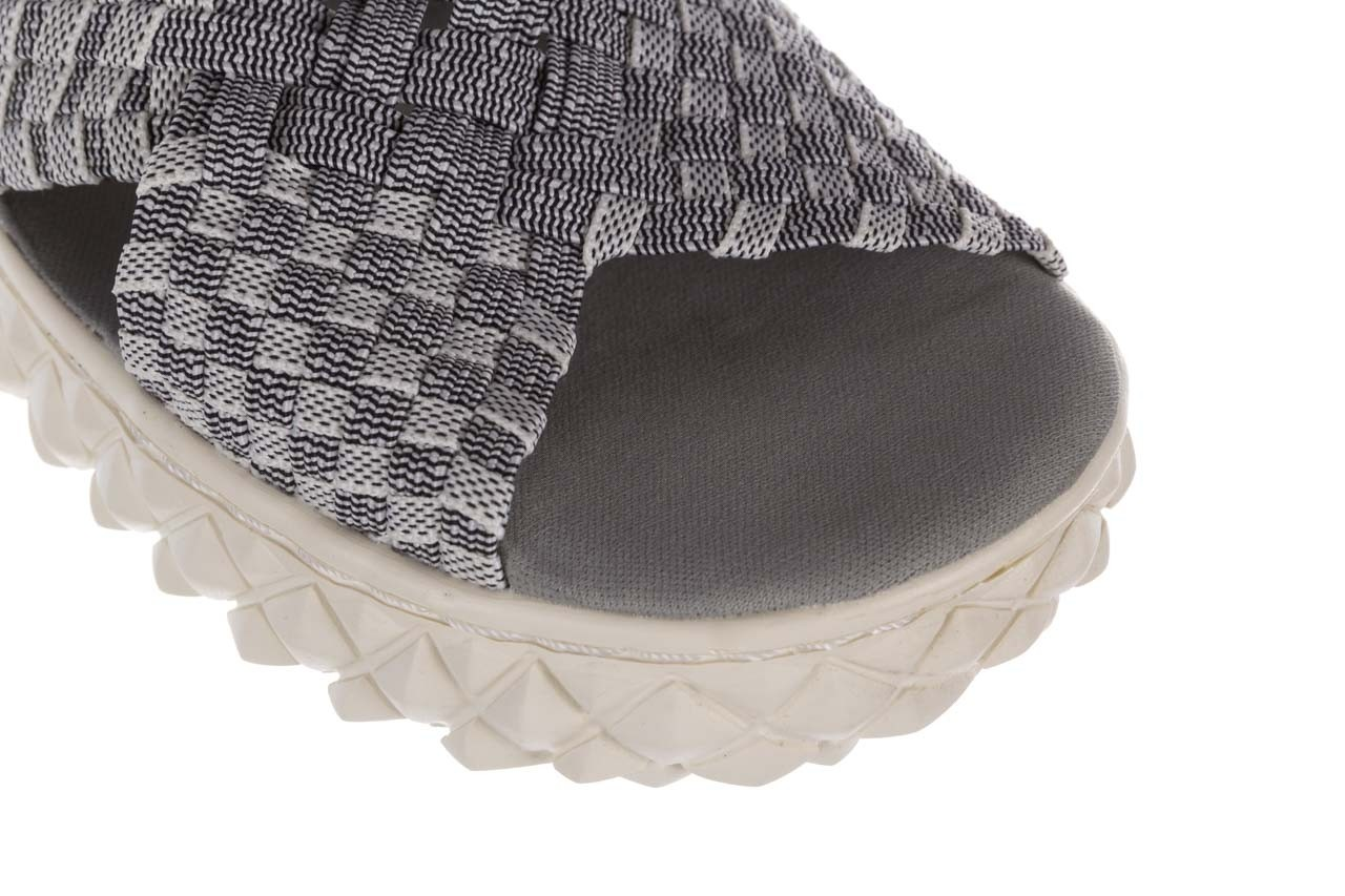 Sandały rock dakota 8 white black smoke, czarny/ biały, materiał  - rock - nasze marki 12