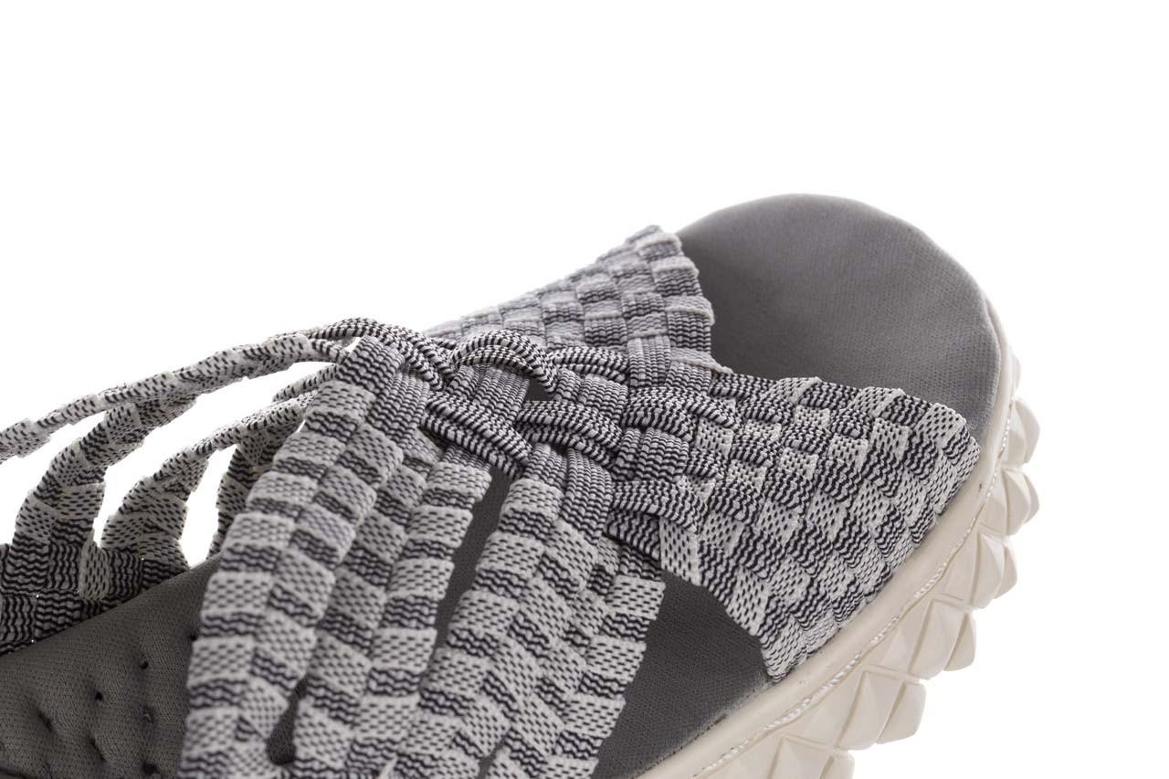 Sandały rock dakota 8 white black smoke, czarny/ biały, materiał  - rock - nasze marki 13