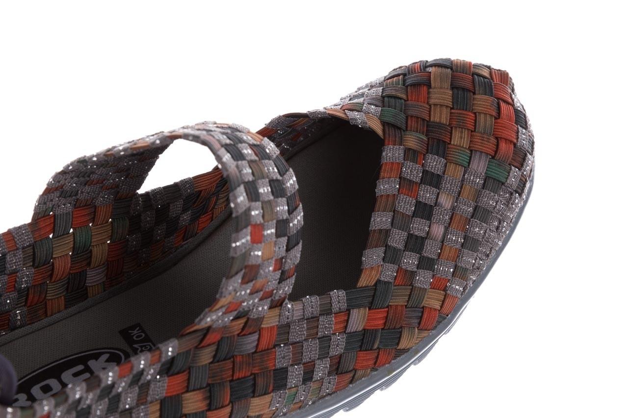 Półbuty rock brixton moss orange smoke-grey silver, pomarańczowy/ zielony, materiał - rock - nasze marki 13