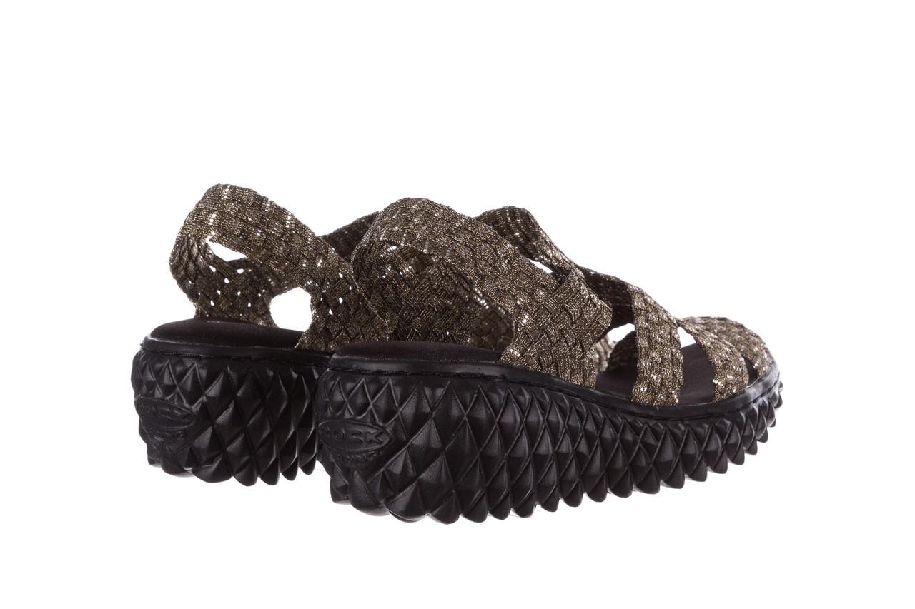 Sandały rock vivian bronze-bronze silver, złoty, materiał 10