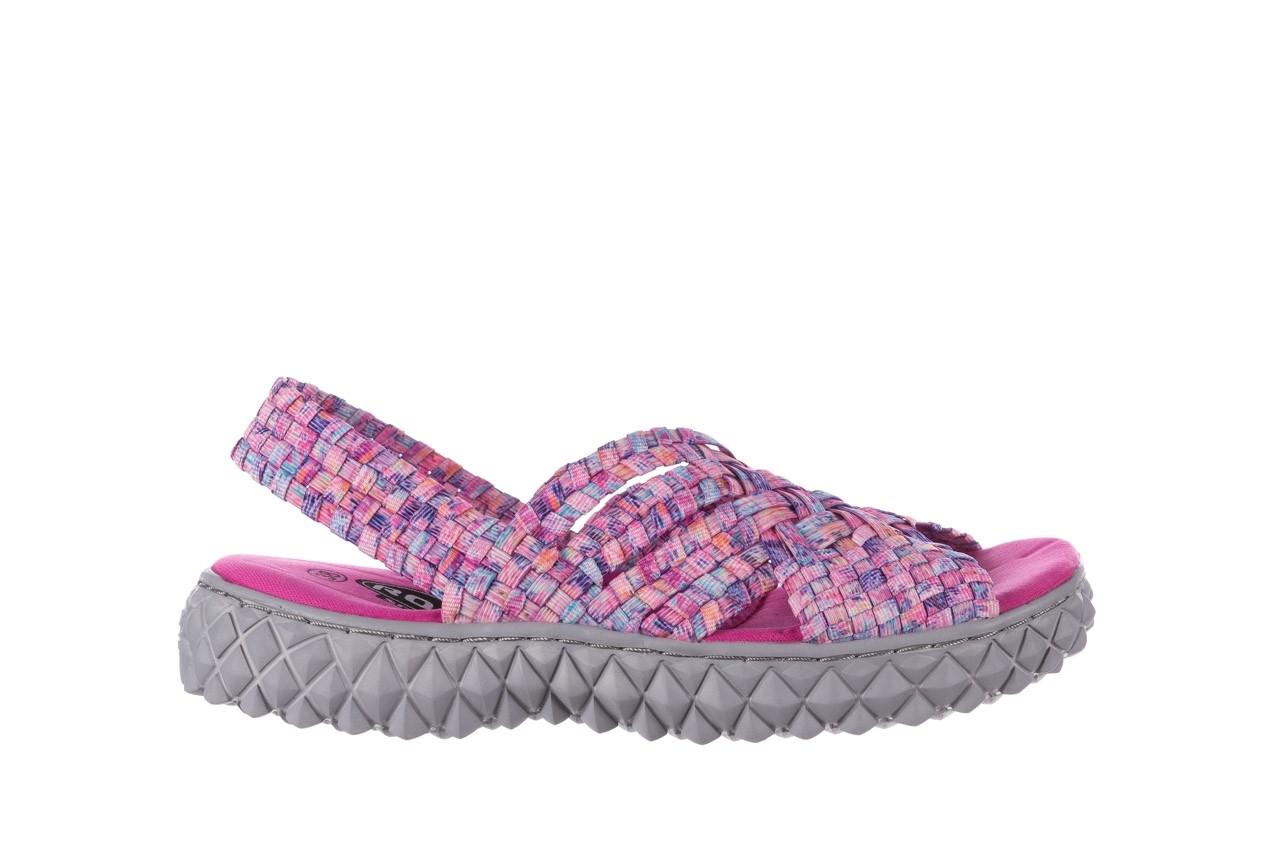 Sandały rock dakota pink purple smoke 21 032829, wielokolorowy, materiał  - sandały - buty damskie - kobieta 7