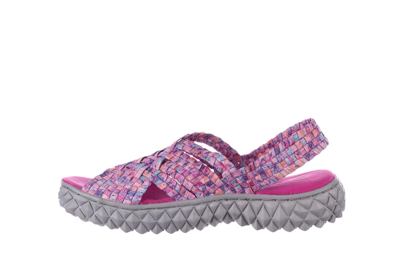 Sandały rock dakota pink purple smoke 21 032829, wielokolorowy, materiał  - sandały - buty damskie - kobieta 9