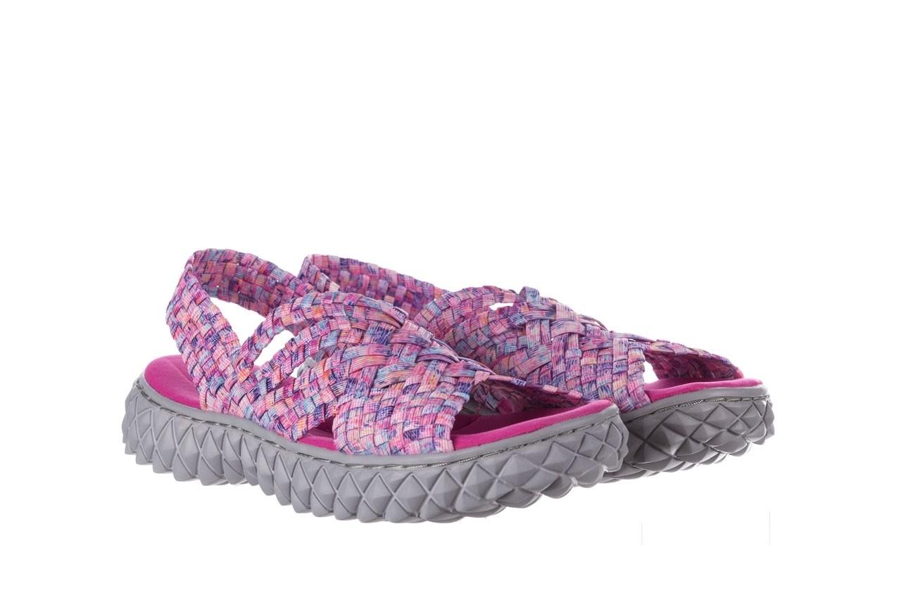 Sandały rock dakota pink purple smoke 20, wielokolorowy, materiał - płaskie - sandały - buty damskie - kobieta 8