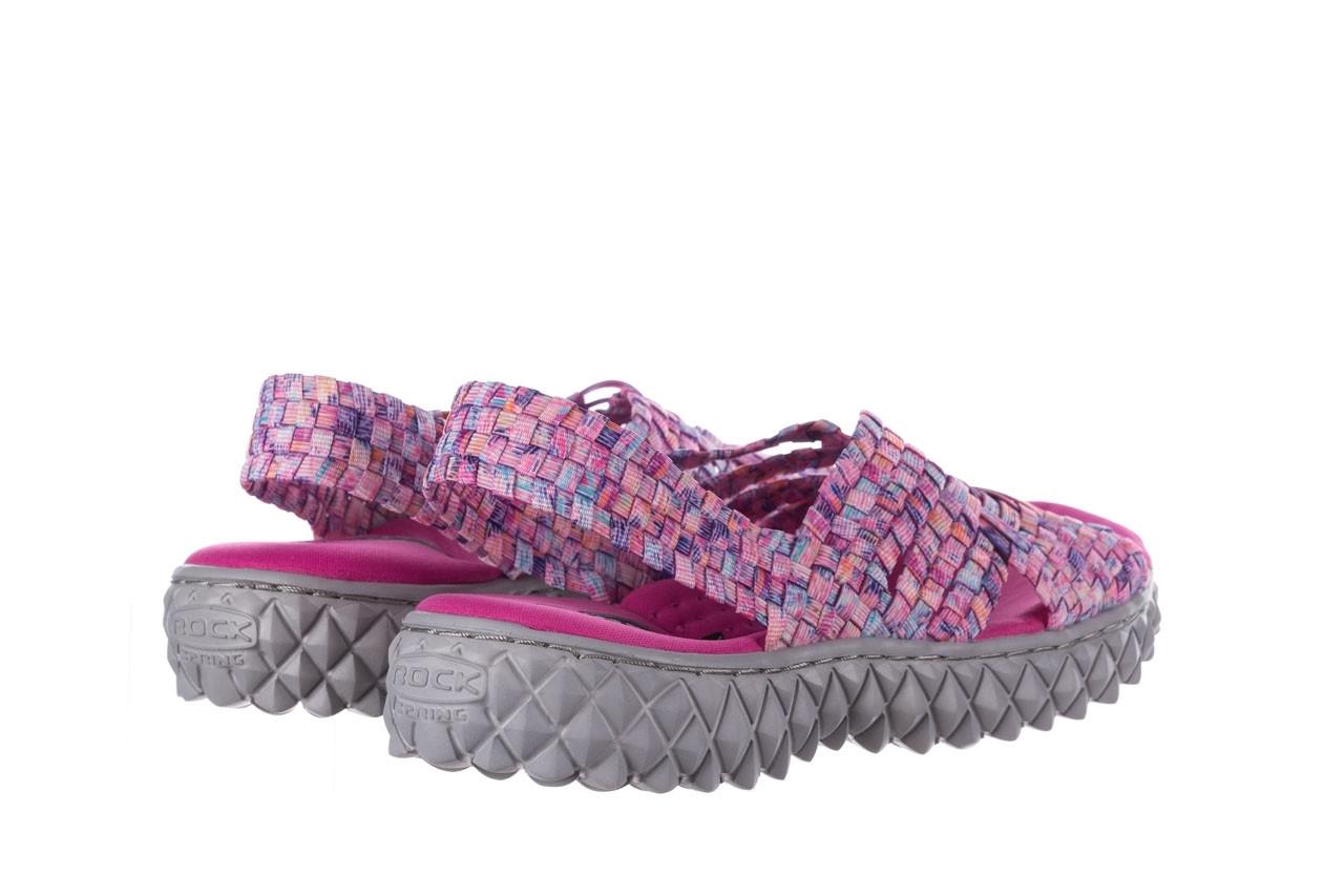 Sandały rock dakota pink purple smoke 21 032829, wielokolorowy, materiał  - sandały - buty damskie - kobieta 10