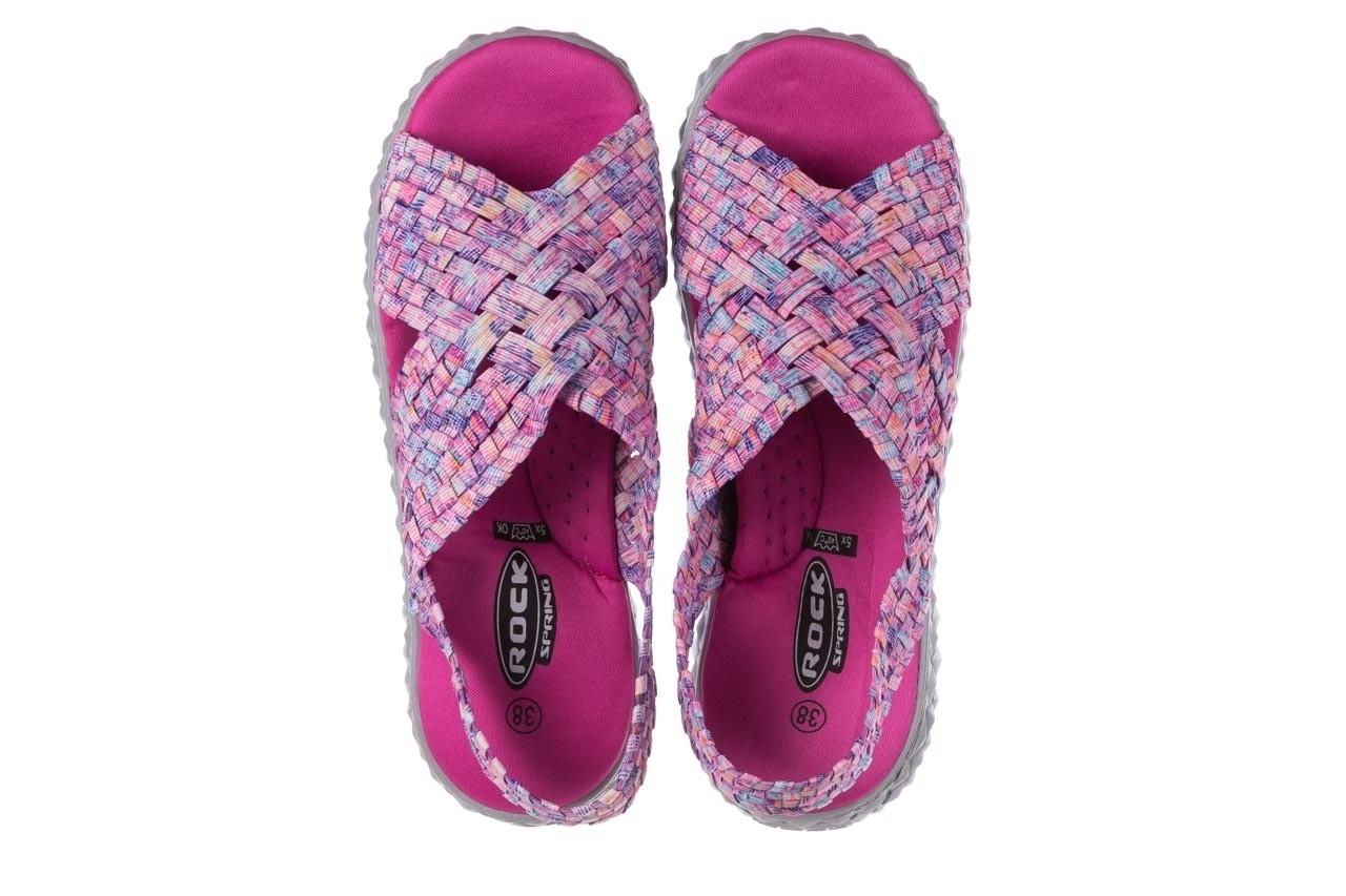 Sandały rock dakota pink purple smoke 20, wielokolorowy, materiał - płaskie - sandały - buty damskie - kobieta 11
