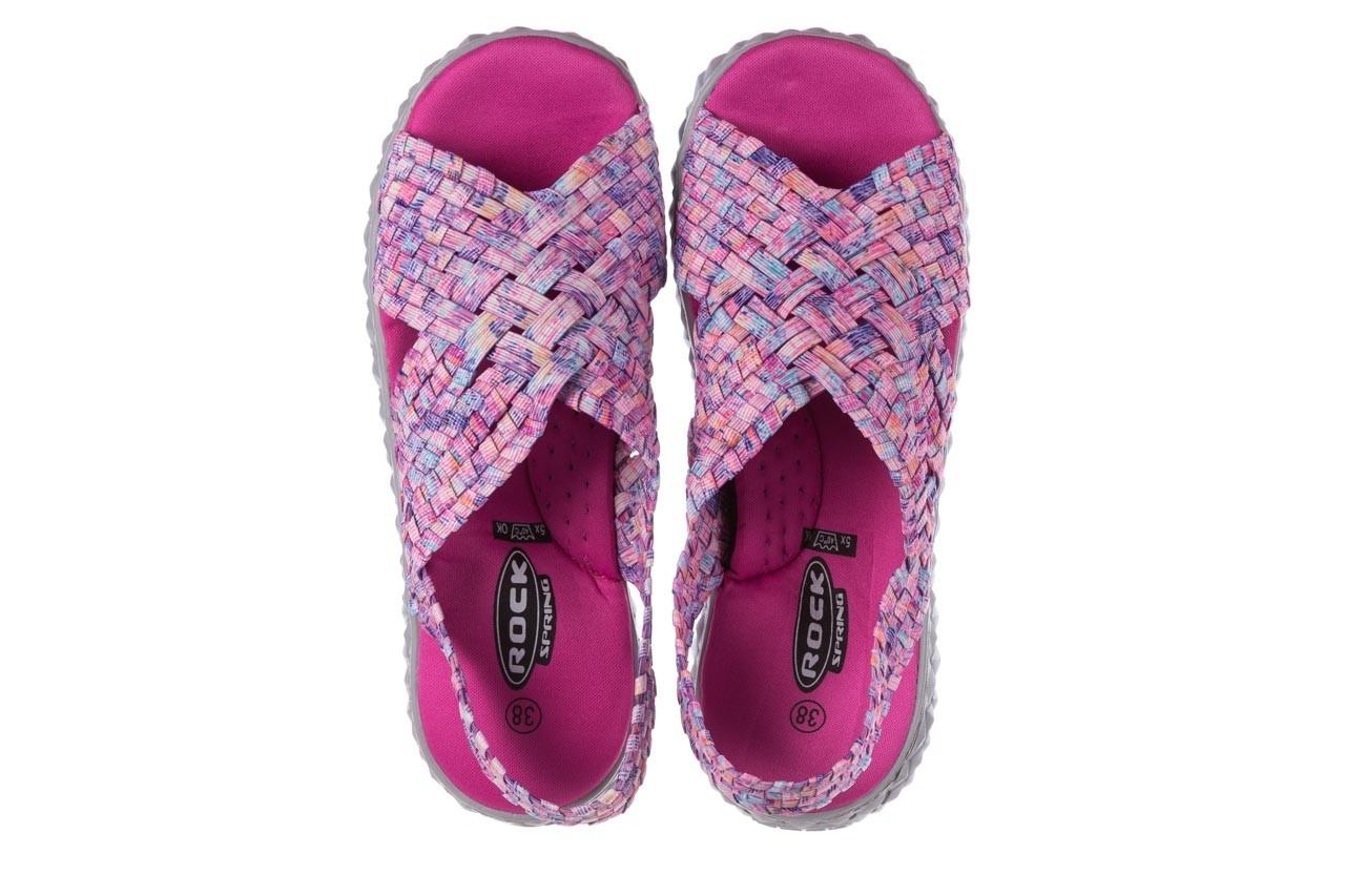 Sandały rock dakota pink purple smoke 21 032829, wielokolorowy, materiał  - sandały - buty damskie - kobieta 11
