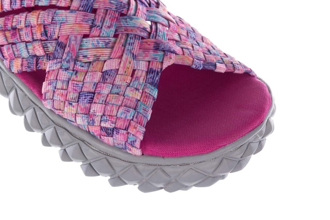 Sandały rock dakota pink purple smoke 20, wielokolorowy, materiał - płaskie - sandały - buty damskie - kobieta 12