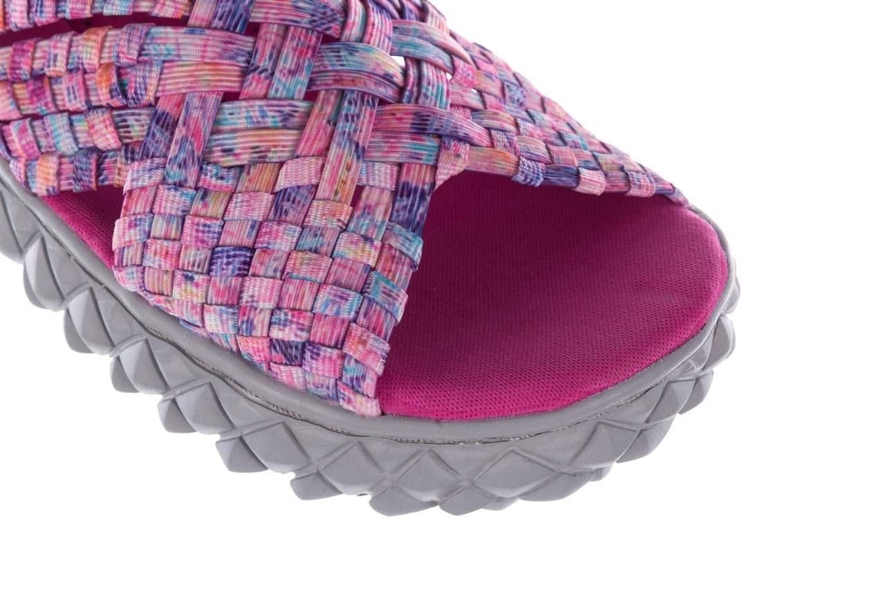 Sandały rock dakota pink purple smoke 21 032829, wielokolorowy, materiał  - sandały - buty damskie - kobieta 12
