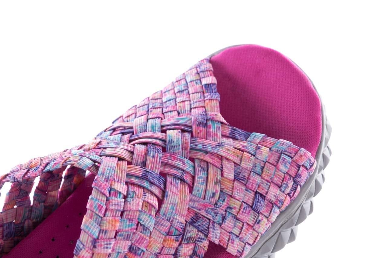 Sandały rock dakota pink purple smoke 20, wielokolorowy, materiał - płaskie - sandały - buty damskie - kobieta 13