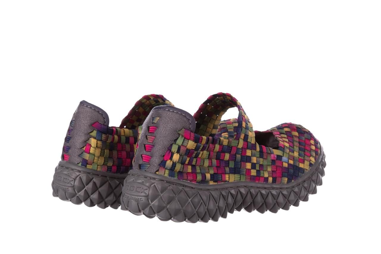 Półbuty rock over fuchsia purple yellow smoke, wielokolorowy, materiał  - obuwie sportowe - buty damskie - kobieta 10
