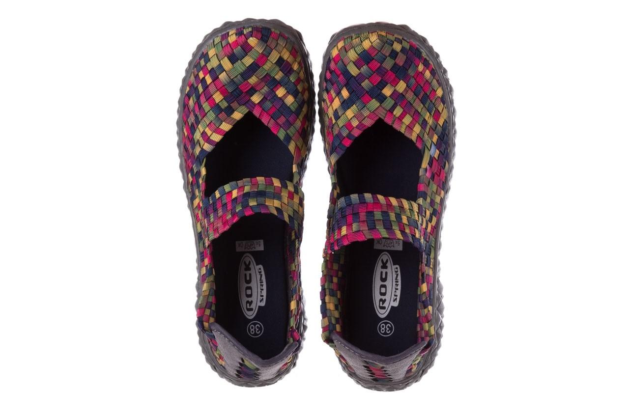 Półbuty rock over fuchsia purple yellow smoke, wielokolorowy, materiał  - obuwie sportowe - buty damskie - kobieta 11