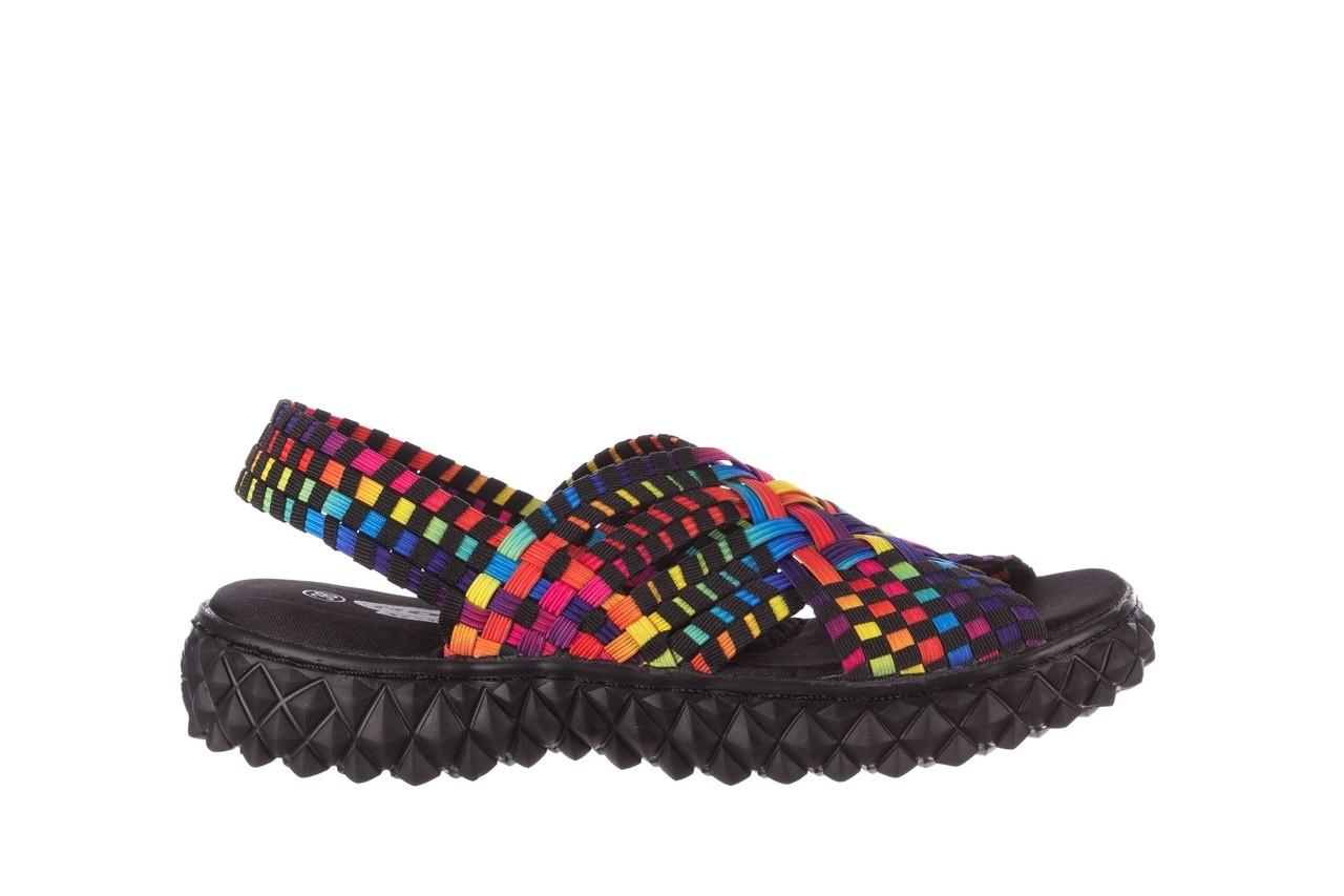Sandały rock dakota tutti frutti black 20, wielokolorowy, materiał  - płaskie - sandały - buty damskie - kobieta 7