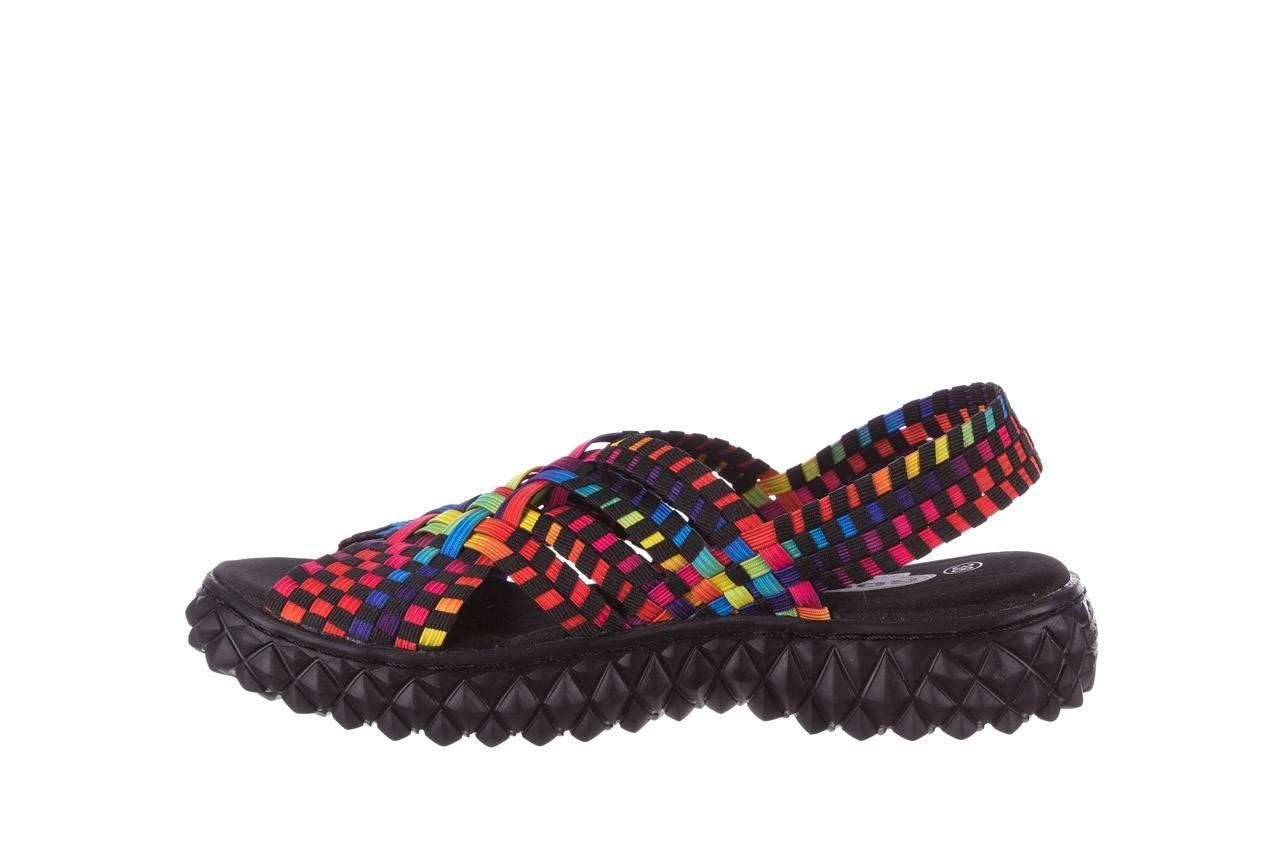 Sandały rock dakota tutti frutti black 20, wielokolorowy, materiał  - płaskie - sandały - buty damskie - kobieta 9