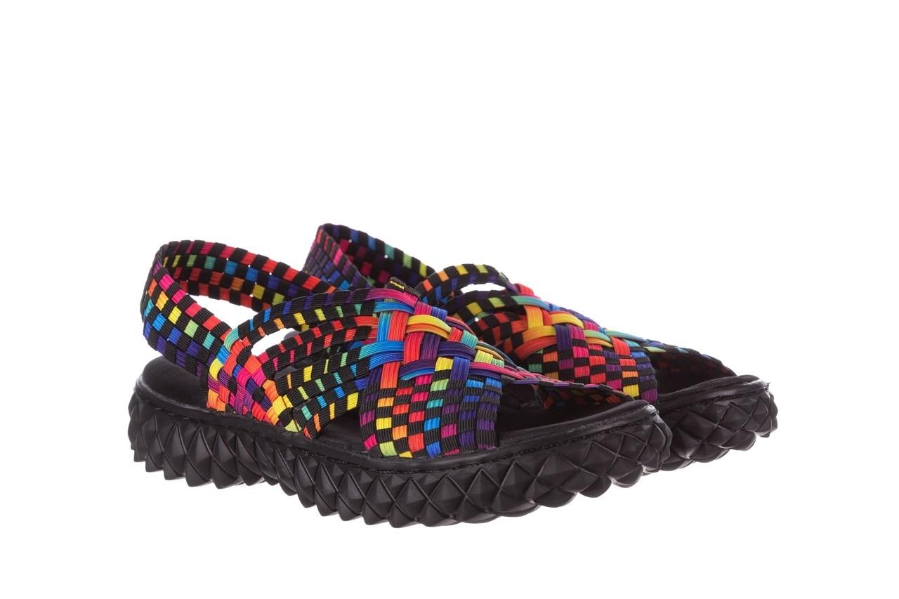 Sandały rock dakota tutti frutti black 20, wielokolorowy, materiał  - płaskie - sandały - buty damskie - kobieta 8
