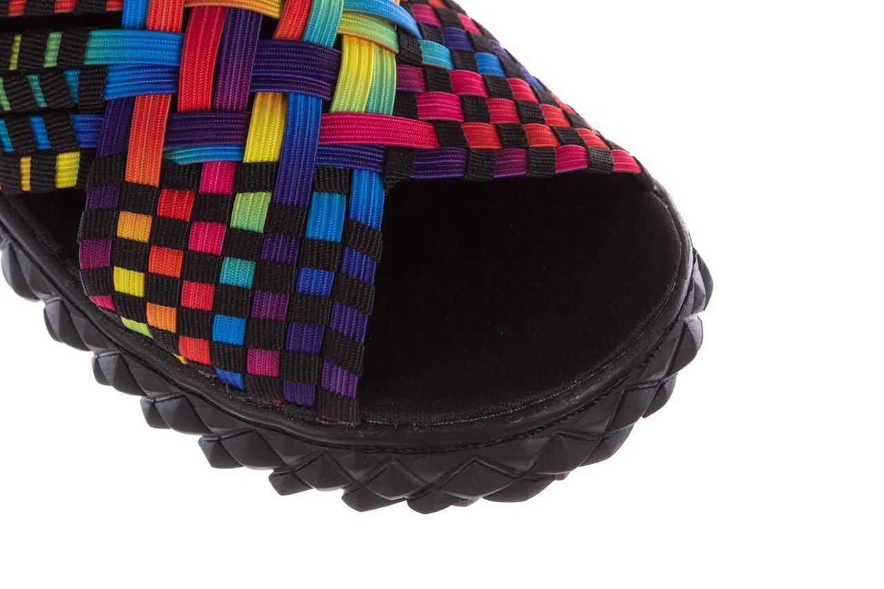 Sandały rock dakota tutti frutti black, wielokolorowy, materiał - rock - nasze marki 12
