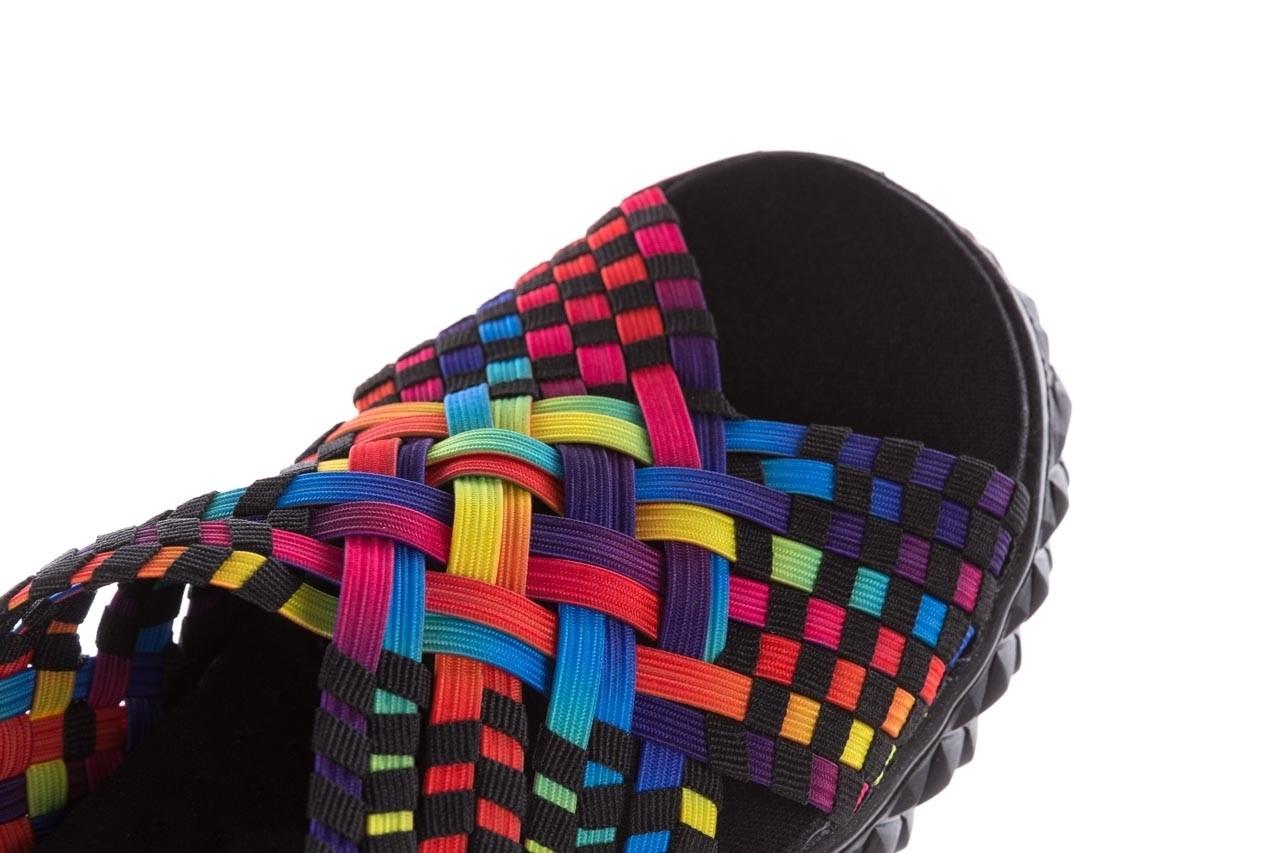 Sandały rock dakota tutti frutti black 20, wielokolorowy, materiał  - płaskie - sandały - buty damskie - kobieta 13