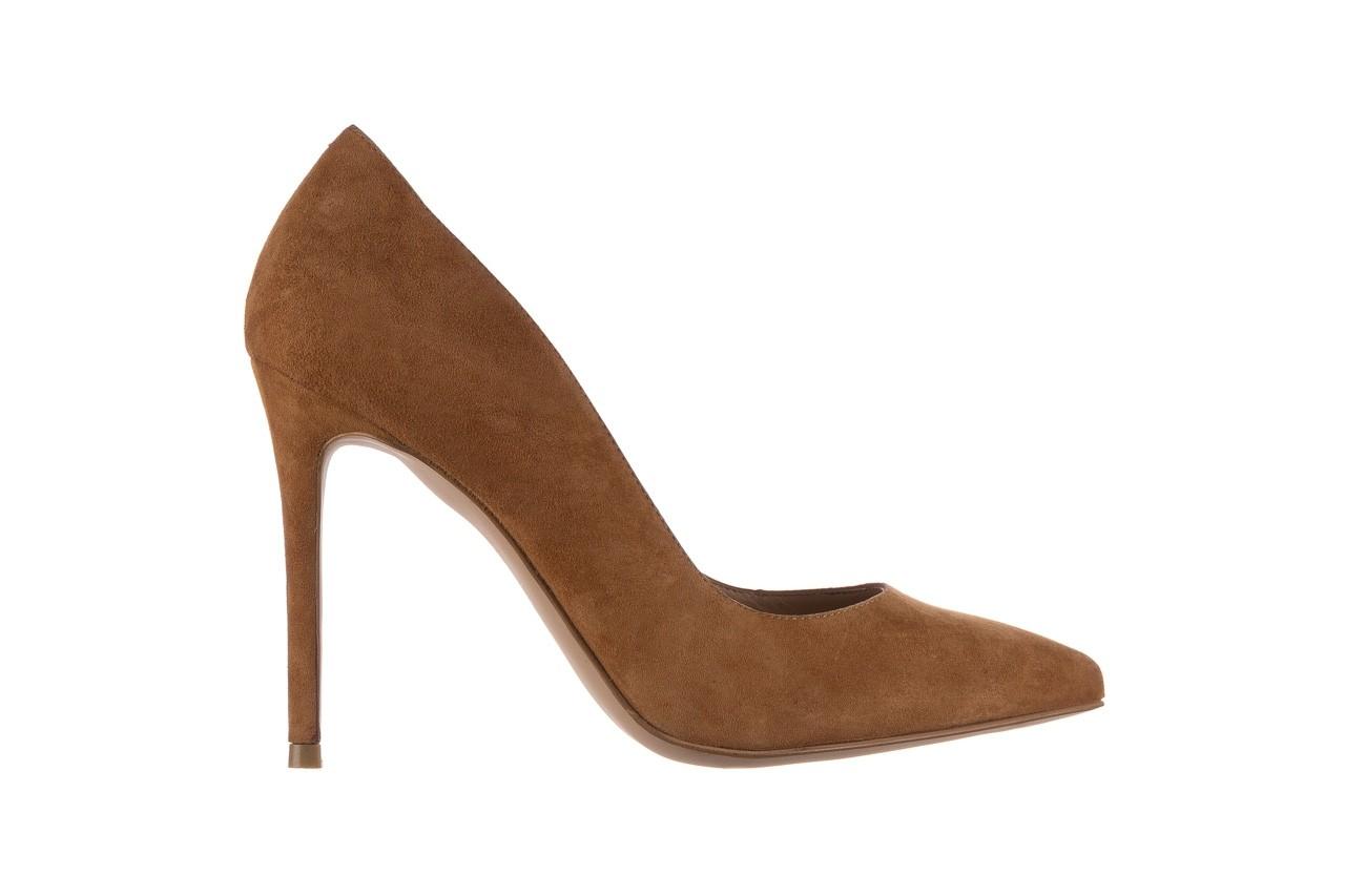 Szpilki bayla-182 2149 carmel zamsz, skóra naturalna  - do szpica - szpilki - buty damskie - kobieta 6