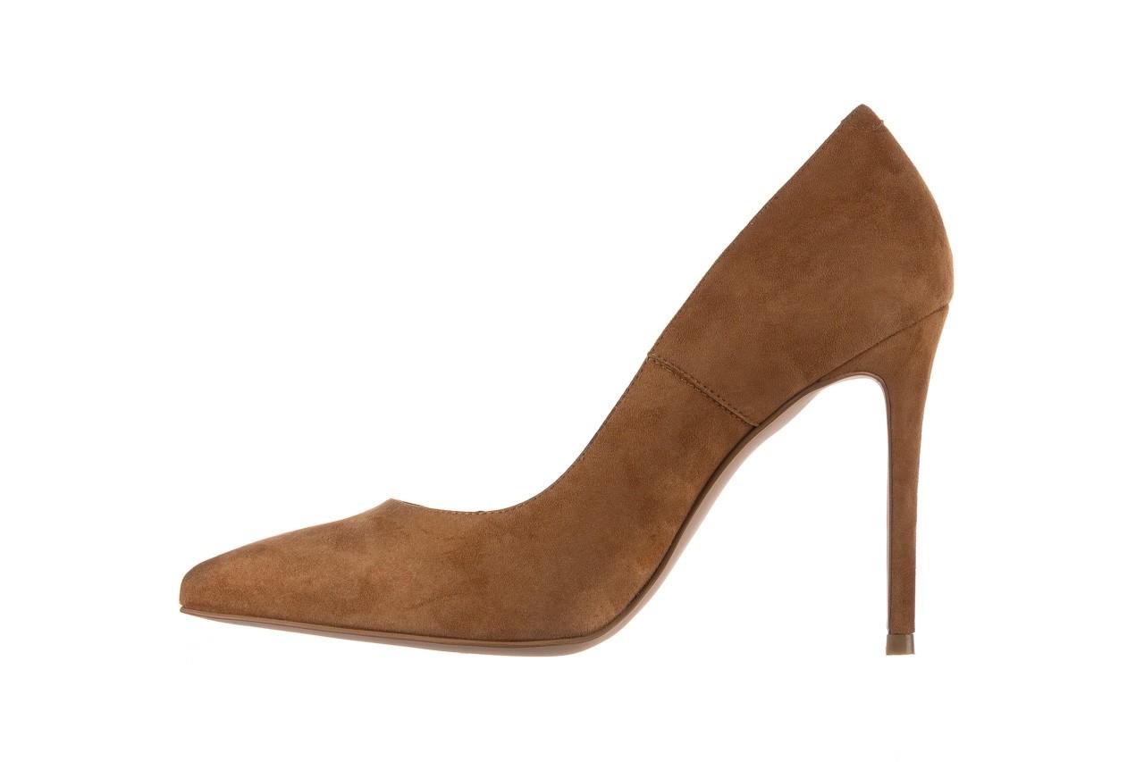 Szpilki bayla-182 2149 carmel zamsz, skóra naturalna  - do szpica - szpilki - buty damskie - kobieta 8