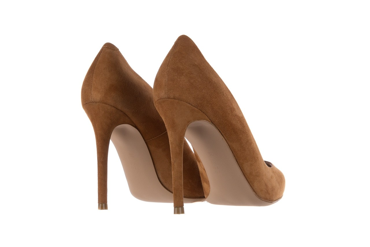 Szpilki bayla-182 2149 carmel zamsz, skóra naturalna  - do szpica - szpilki - buty damskie - kobieta 9