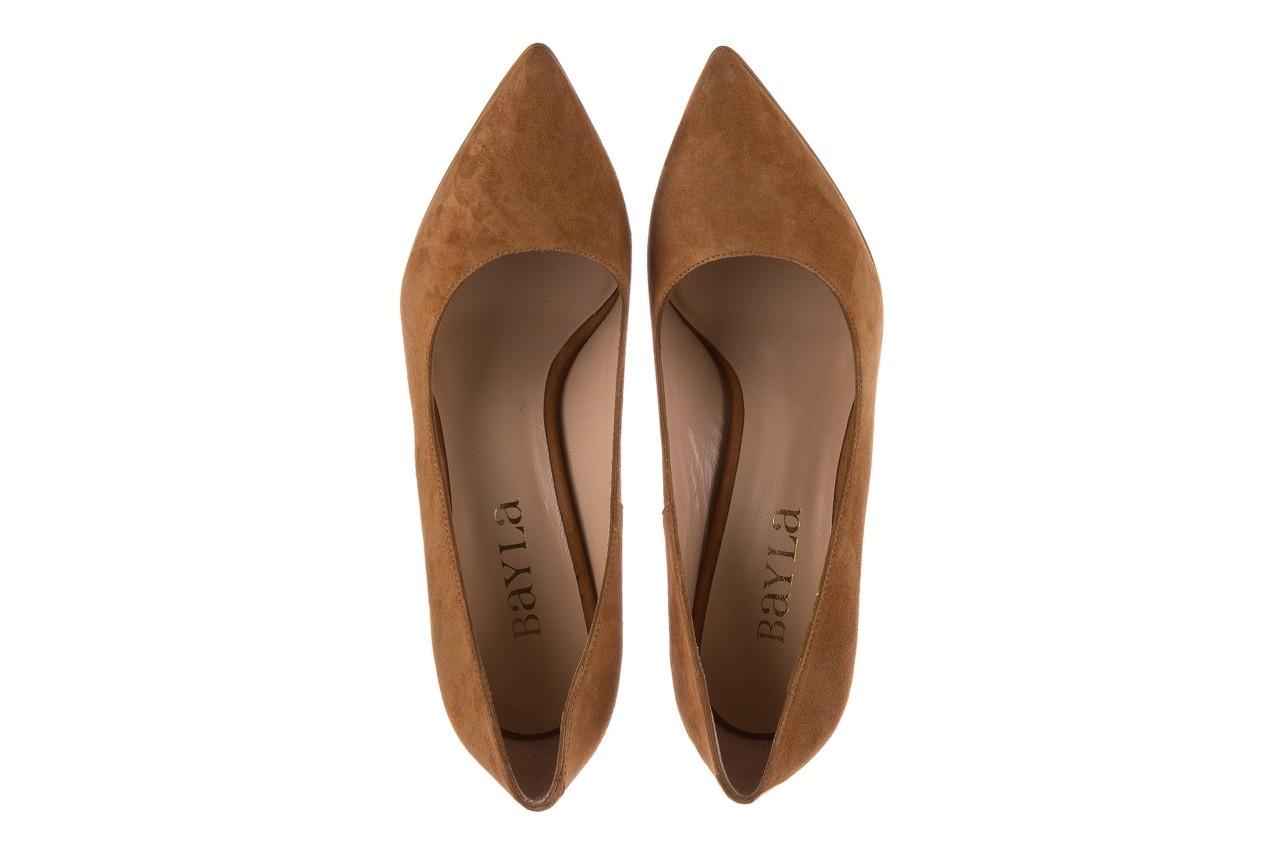 Szpilki bayla-182 2149 carmel zamsz, skóra naturalna  - do szpica - szpilki - buty damskie - kobieta 10