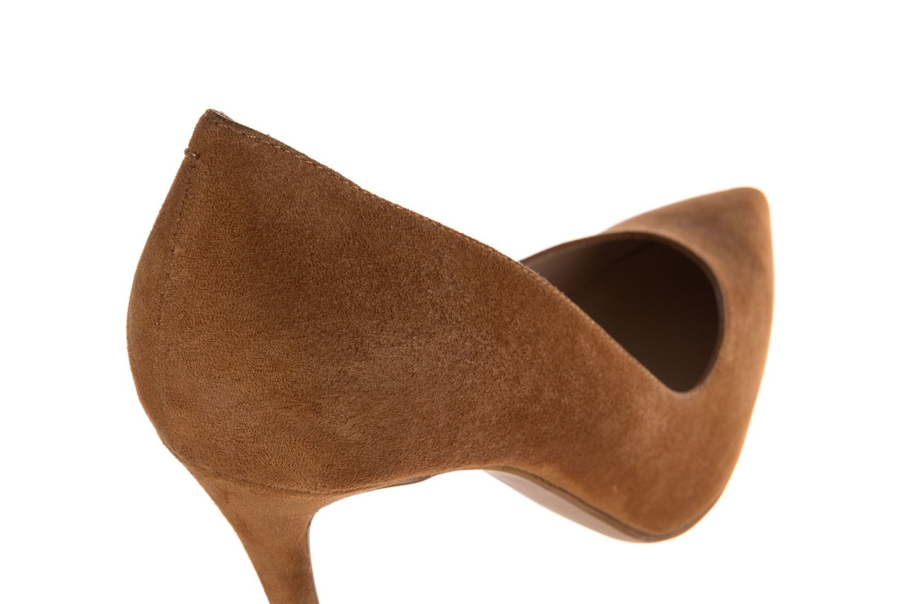 Szpilki bayla-182 2149 carmel zamsz, skóra naturalna  - do szpica - szpilki - buty damskie - kobieta 11
